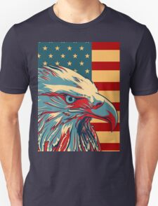 American Patriotic Eagle Bald T-Shirt