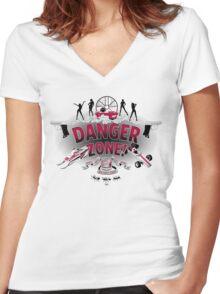 Danger Zone! Women's Fitted V-Neck T-Shirt