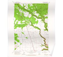 USGS Topo Map Oregon Hehe Butte 280175 1962 24000 Poster