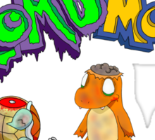 Zombmon Sticker