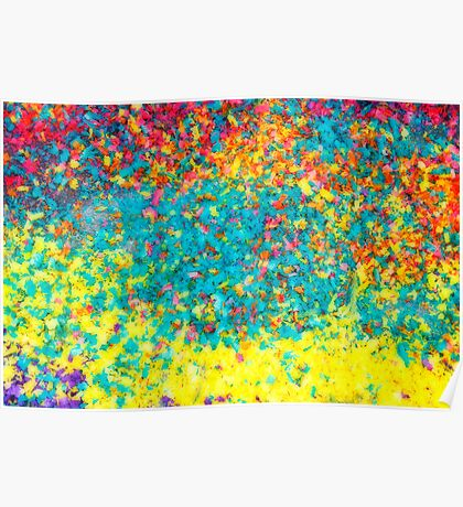 Vivid colours abstract Poster