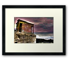 Athens Surrealism Framed Print