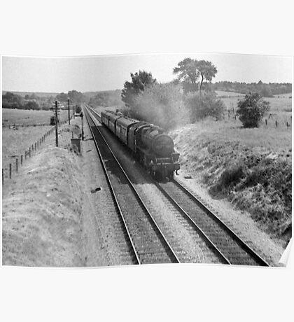 Heading for Nottingham, UK, 1960s. Poster
