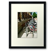 Bicycles Corraled Framed Print