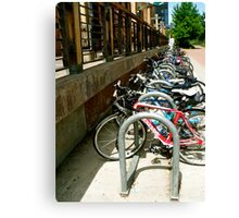 Bicycles Corraled Canvas Print