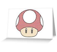 nintendo Mushroom Greeting Card