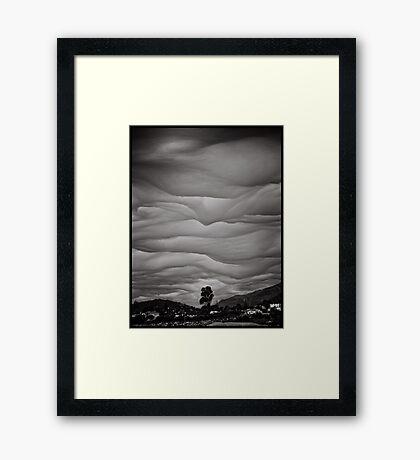 God's brush Framed Print
