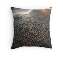 Golden Grooves, Findhorn Bay, Moray Firth Throw Pillow