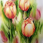 Tulips by Bev  Wells