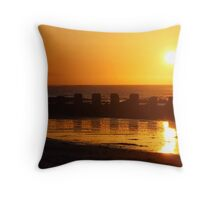 West Beach Sunset, Lossiemouth, Moray Firth Throw Pillow