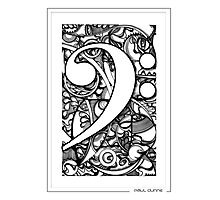 BASS CLEF DOODLE Photographic Print