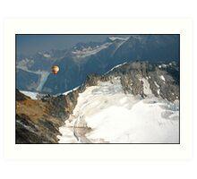 Flying the Glaciers. Art Print