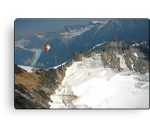 Flying the Glaciers. Canvas Print