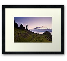 """Storr Sunrise"",Oldman of Storr,Skye,Highlands Framed Print"