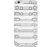 Ford Fiesta grills from past to present iPhone Case/Skin