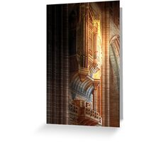 The Grand Organ, Liverpool Anglican Cathedral Greeting Card