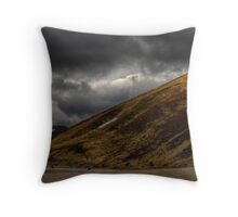 Bikers in the Cairngorms Throw Pillow