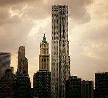 New York by Gehry and the New York City Skyline by Vivienne Gucwa