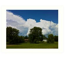 Clouds of white Art Print