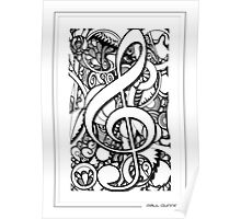TREBLE CLEFF MUSICAL NOTE Poster