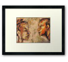 World's Apart Framed Print