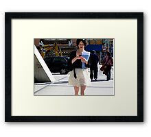 NYC Texting Framed Print