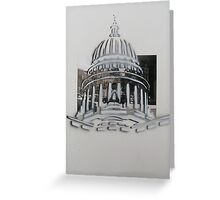 Wisconsin Capital building stencil  Greeting Card