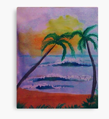 Serenity at its best, watercolor Canvas Print