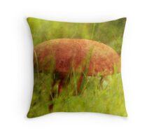 Mushroom Cap Throw Pillow