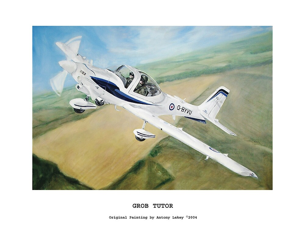 Grob Tutor Aviation Art by AlbertLake