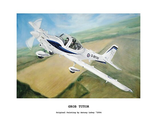 Grob Tutor Aviation Art by AlbertLake