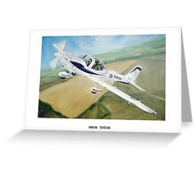 Grob Tutor Aviation Art Greeting Card
