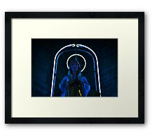 Neon Mary Framed Print