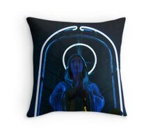 Neon Mary Throw Pillow
