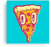 Pizza Face Buddy Canvas Print