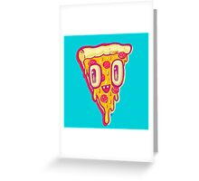 Pizza Face Buddy Greeting Card
