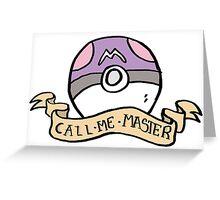 Naughty Pokeball - Masterball Greeting Card