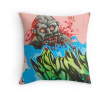 Twisted but Creative Mind of an Atlanta Tagger Throw Pillow
