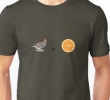 Partridge and Orange Unisex T-Shirt