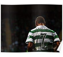 Henrik Larsson 7 - Celtic Legend Poster