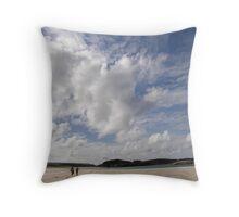 Walking Keadue Beach Donegal Ireland Throw Pillow