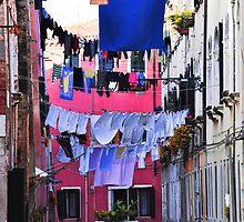 Hanging laundry in Venice by Ingrida Sokolovaite