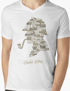 Sherlock Holmes The Canon (white) Mens V-Neck T-Shirt