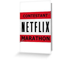 Netflix Marathon Greeting Card