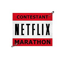 Netflix Marathon Photographic Print