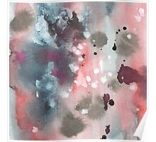 Hand drawn abstract water color background Poster