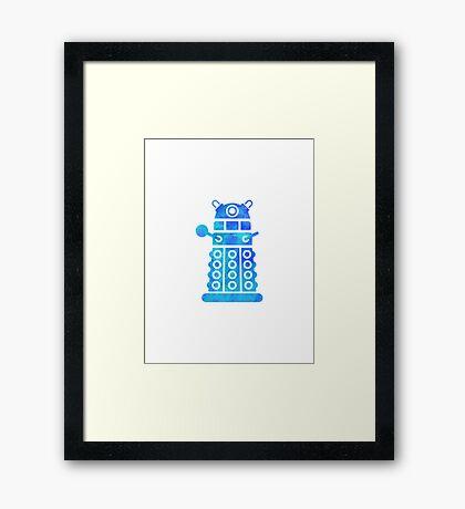 dalek blue version Framed Print
