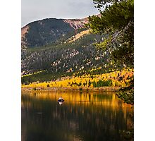 Autumn Fly Fisherman Photographic Print
