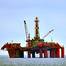 North Sea Rig: Borgland Dolphin by Stephen Frost