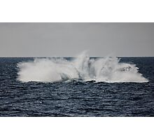 A Whale of a Splash ~ Outer Great Barrier Reef Photographic Print